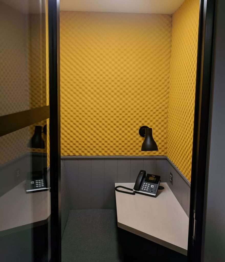Modus Office Spaces acoustic panels wide shot