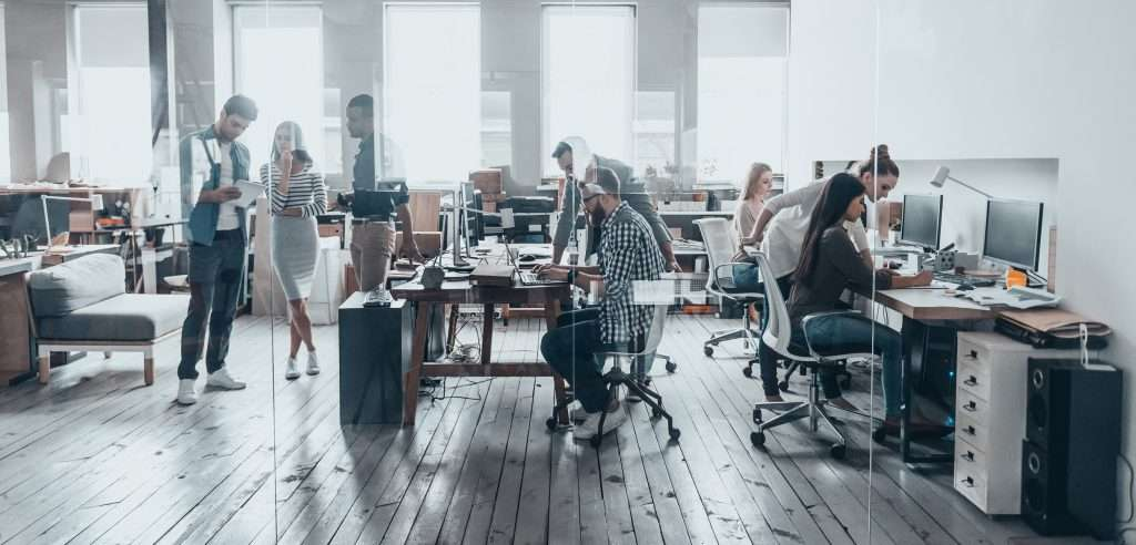 Open-plan offices are popular but can cause noisy distractions
