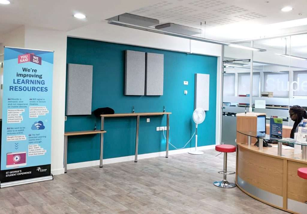 Acoustic panels are a great way to improve office acoustics