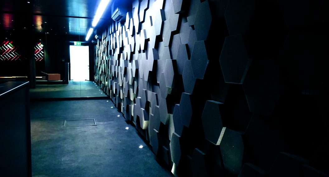 class '0' hexagon foam wall