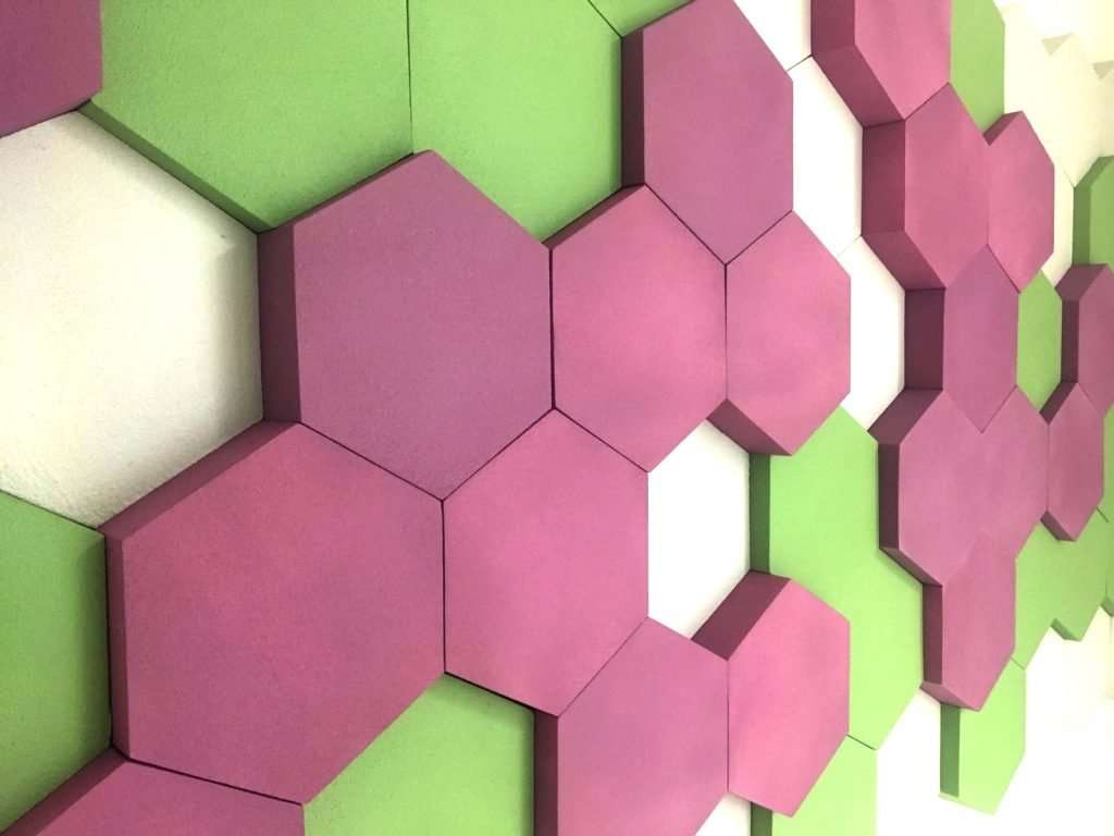 Hex profile office acoustic treatment