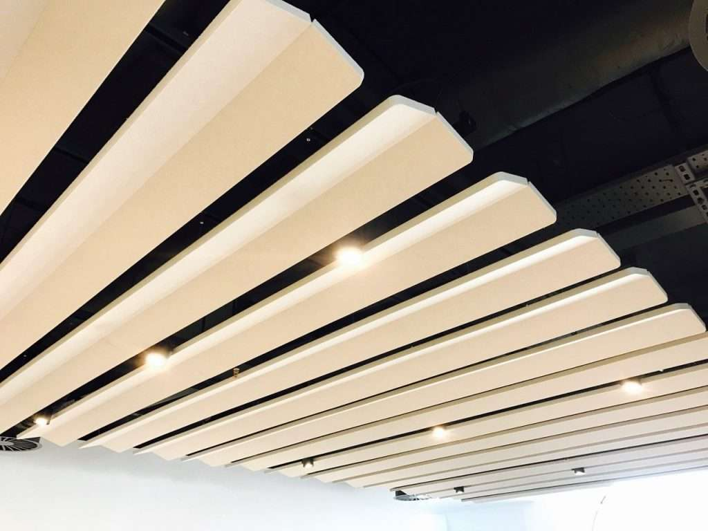 Ceiling clouds help improve your office acoustics