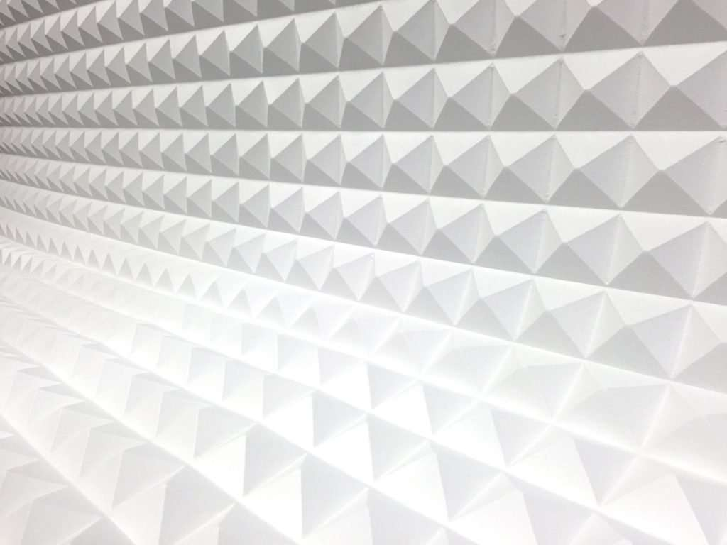 White Pyramid acoustic foam