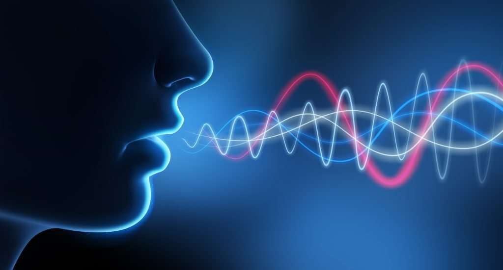 Sound waves from someone speaking
