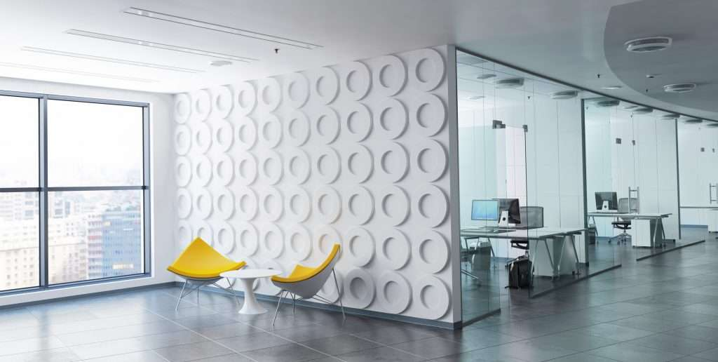 Wall partition with acoustic rings
