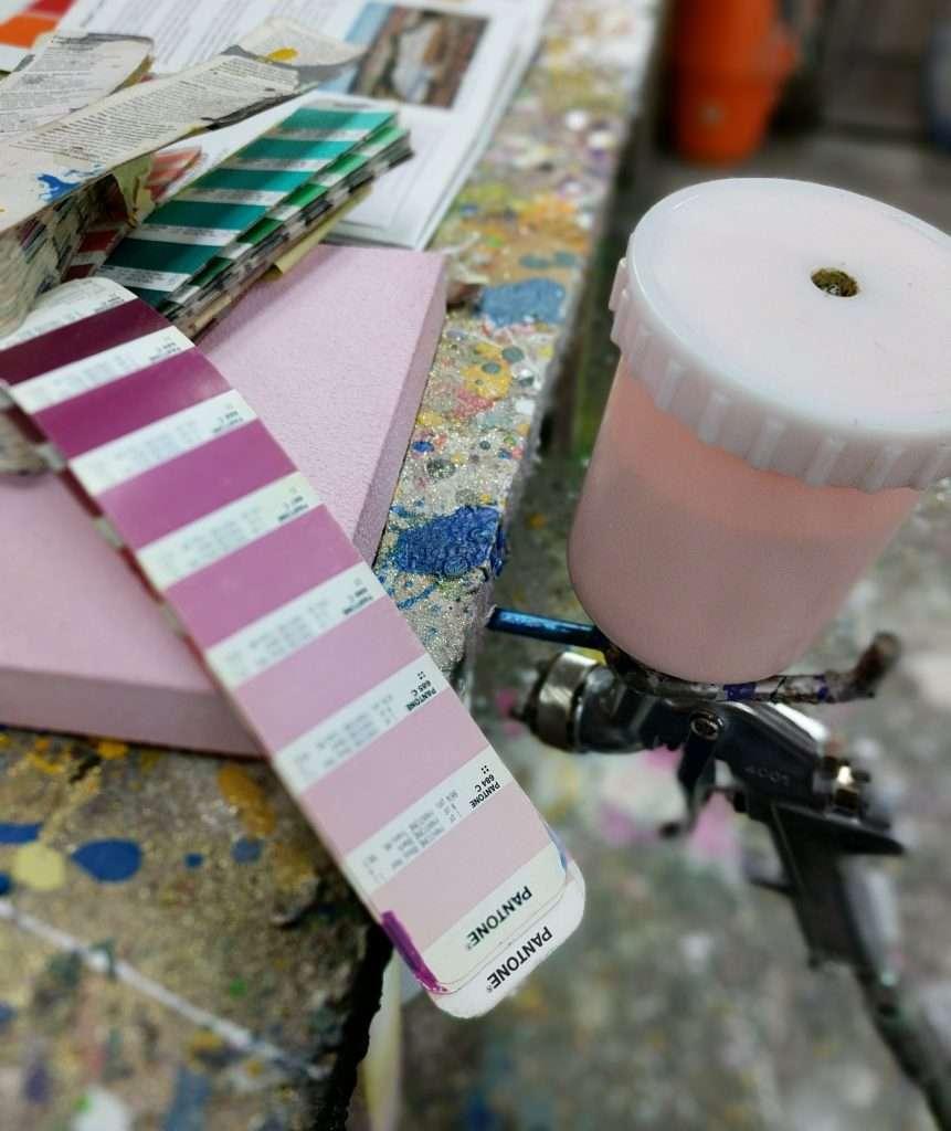 Sound Zero coatings with Pantone colour match