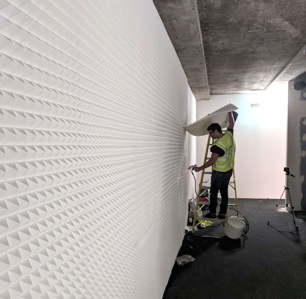 acoustic panels for noise transmission reduction