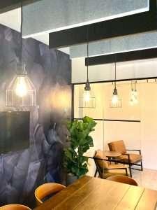 Acoustic panels meeting room