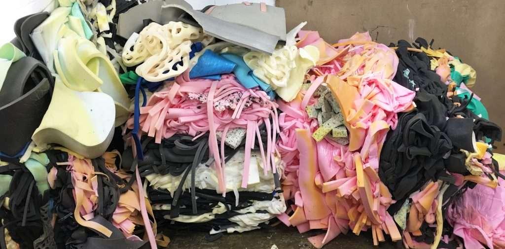 Foam scrap waste