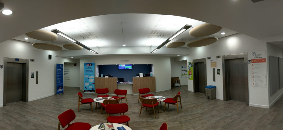 NHS Waiting area | Improving acoustics