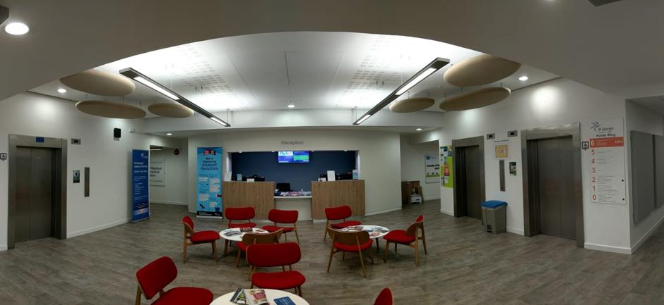 NHS Waiting area | Improving acoustics
