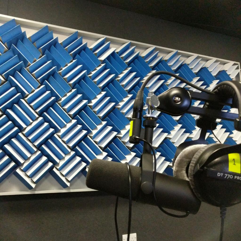 Facebook podcast studio | Acoustic panels | acoustic foam