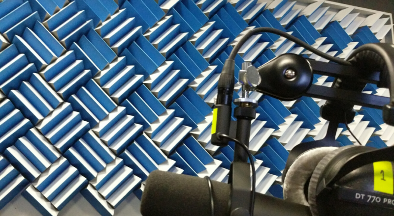 Facebook podcast studio | Acoustic panels | acoustic foam
