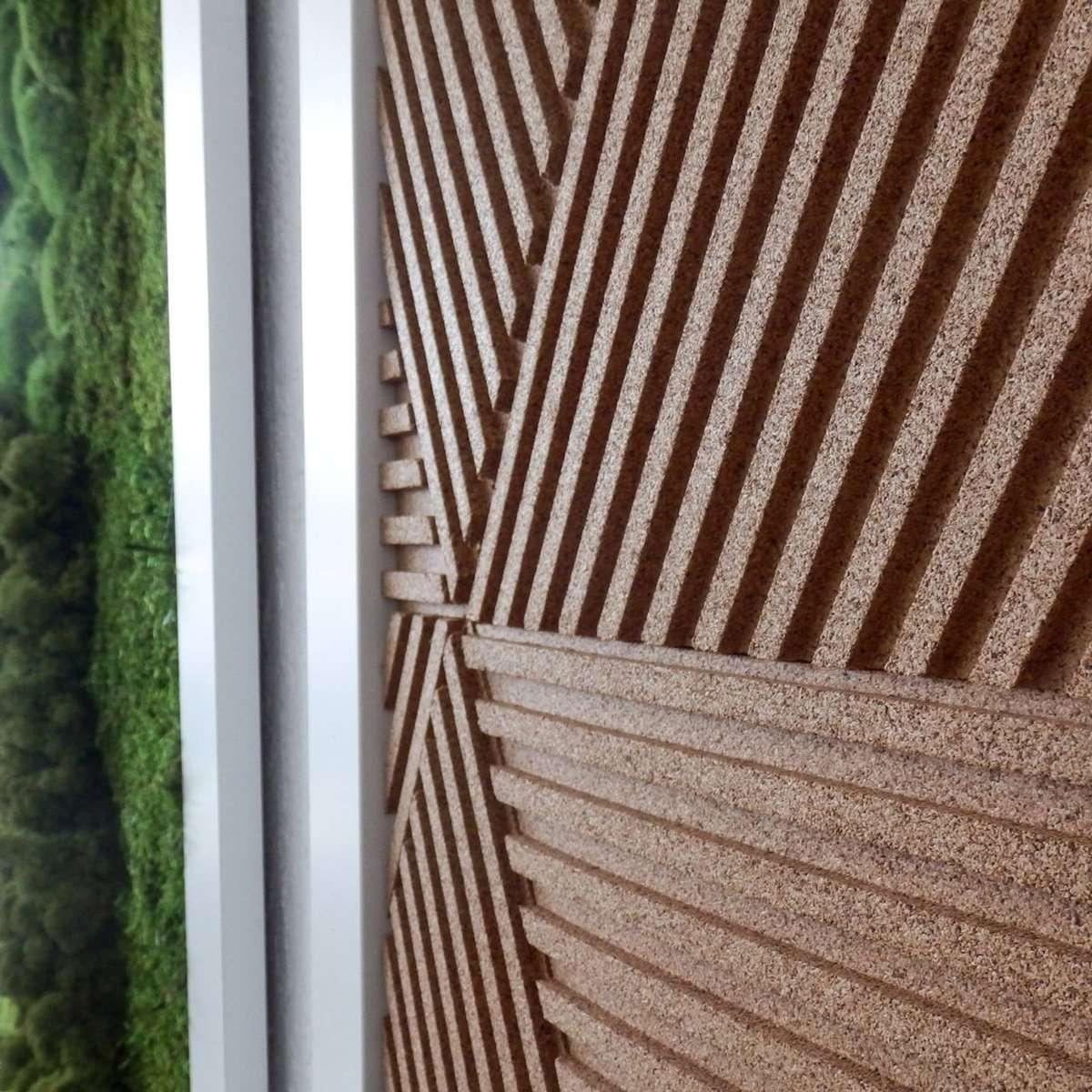 CorkBee Stripe and Moss Wall