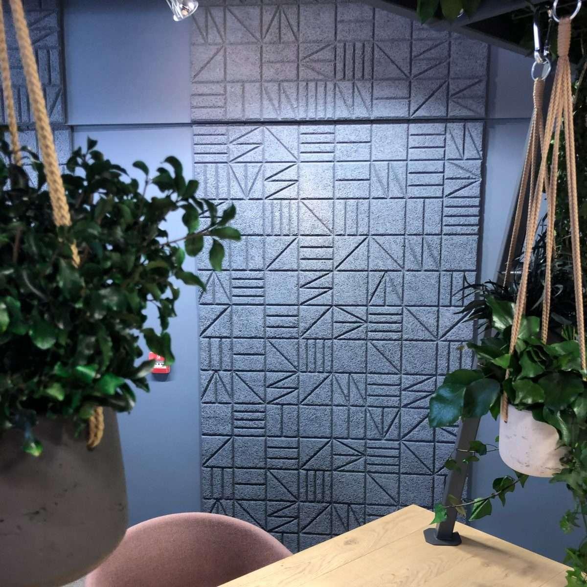 Wood Wool panel - Squared pattern