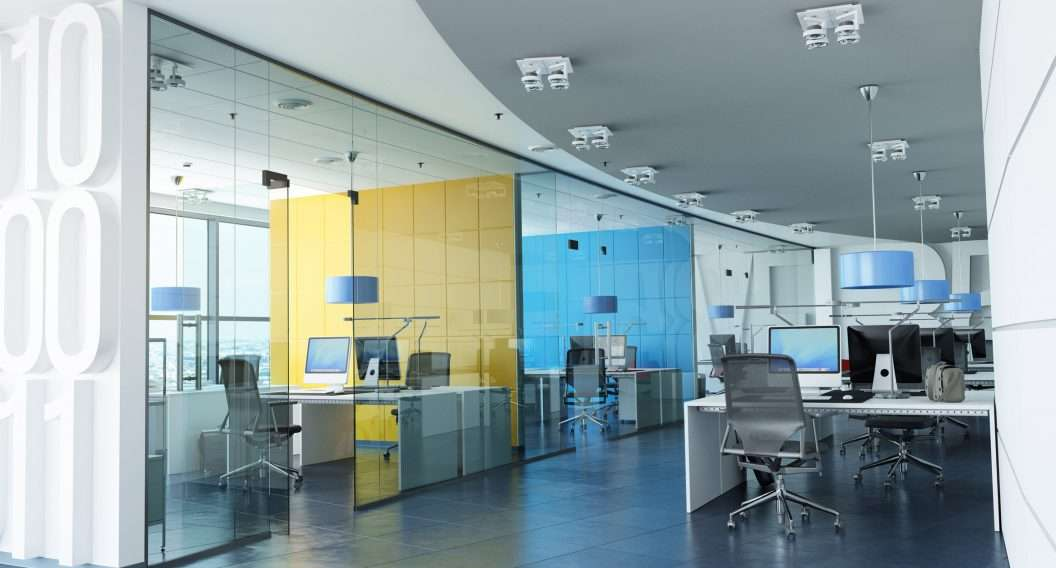 Fabric Wall concept in glass meeting rooms