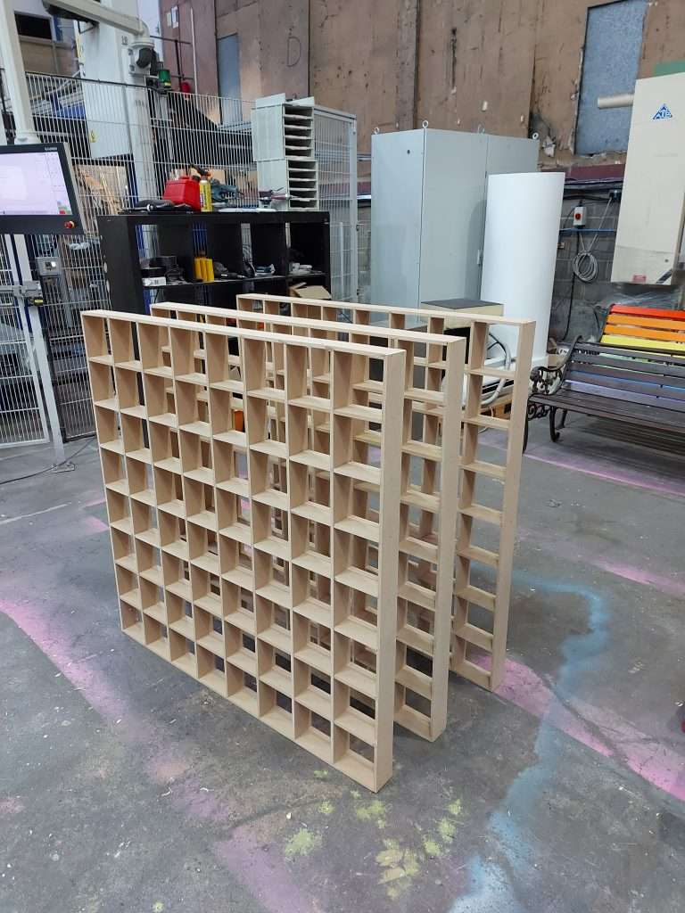 grid diffusers in the factory