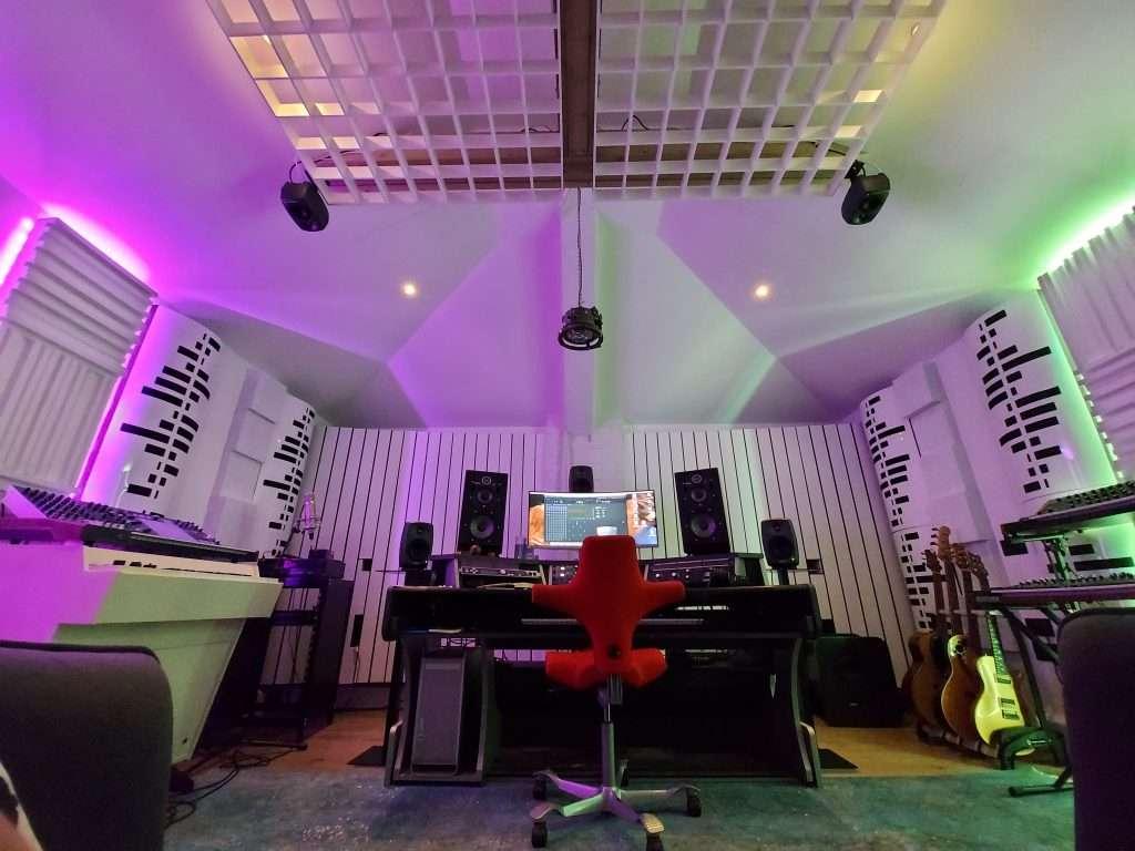 Acoustic music studio design