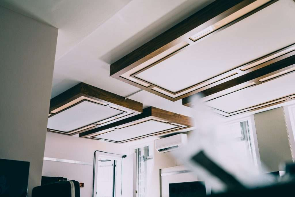 Cloud diffusers fitted with Wi-Fi-enabled smart lighting | black walnut