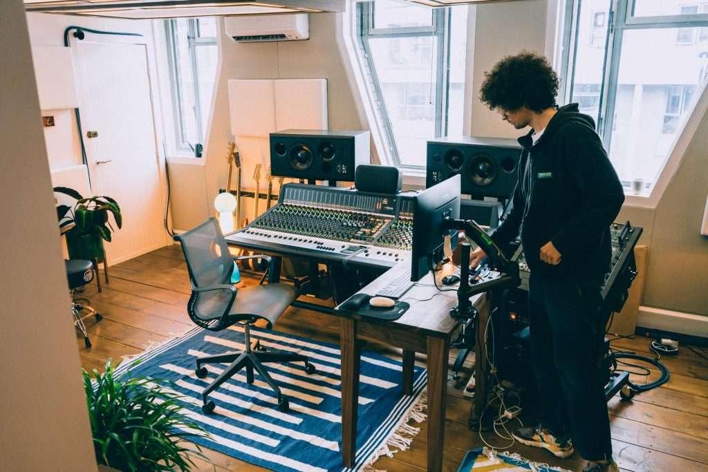 Ben Baptie in his new recording study