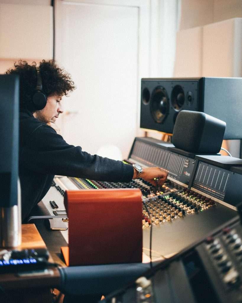 Ben Baptie recording music