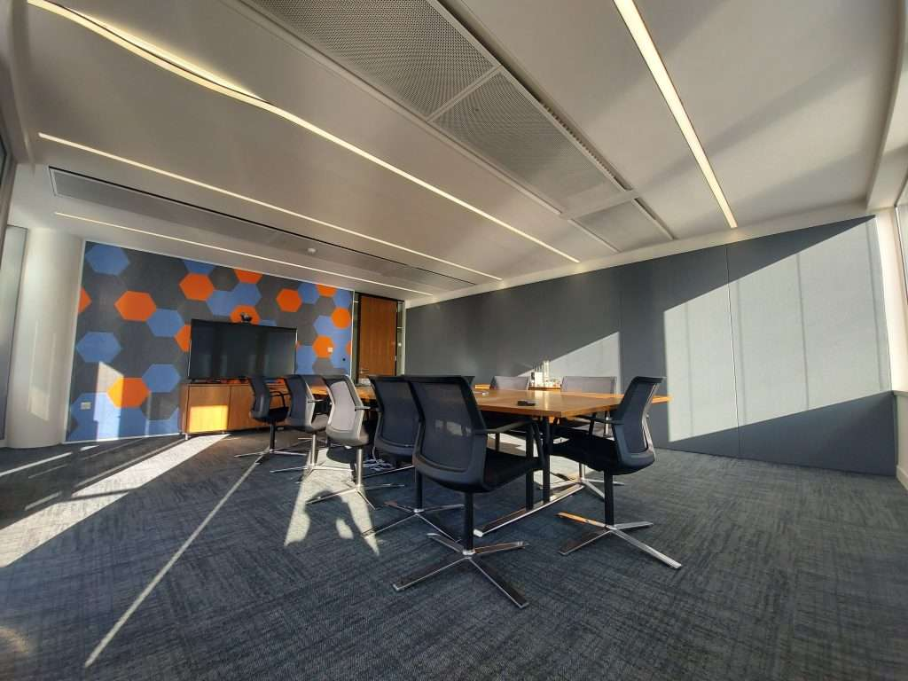 Picture of finished result of london-based law firm office acoustics